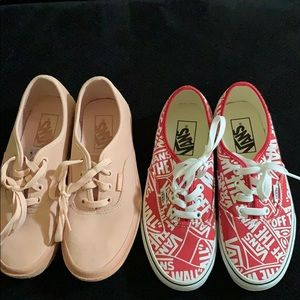 Like new vans bundle .